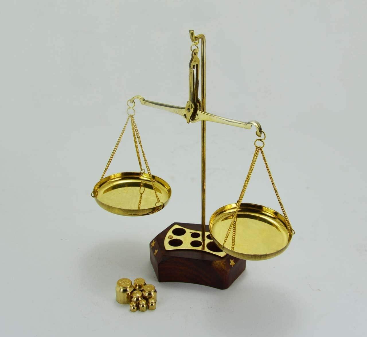 Hermosa báscula de latón para decoración de balanza de justicia: Amazon.es: Hogar