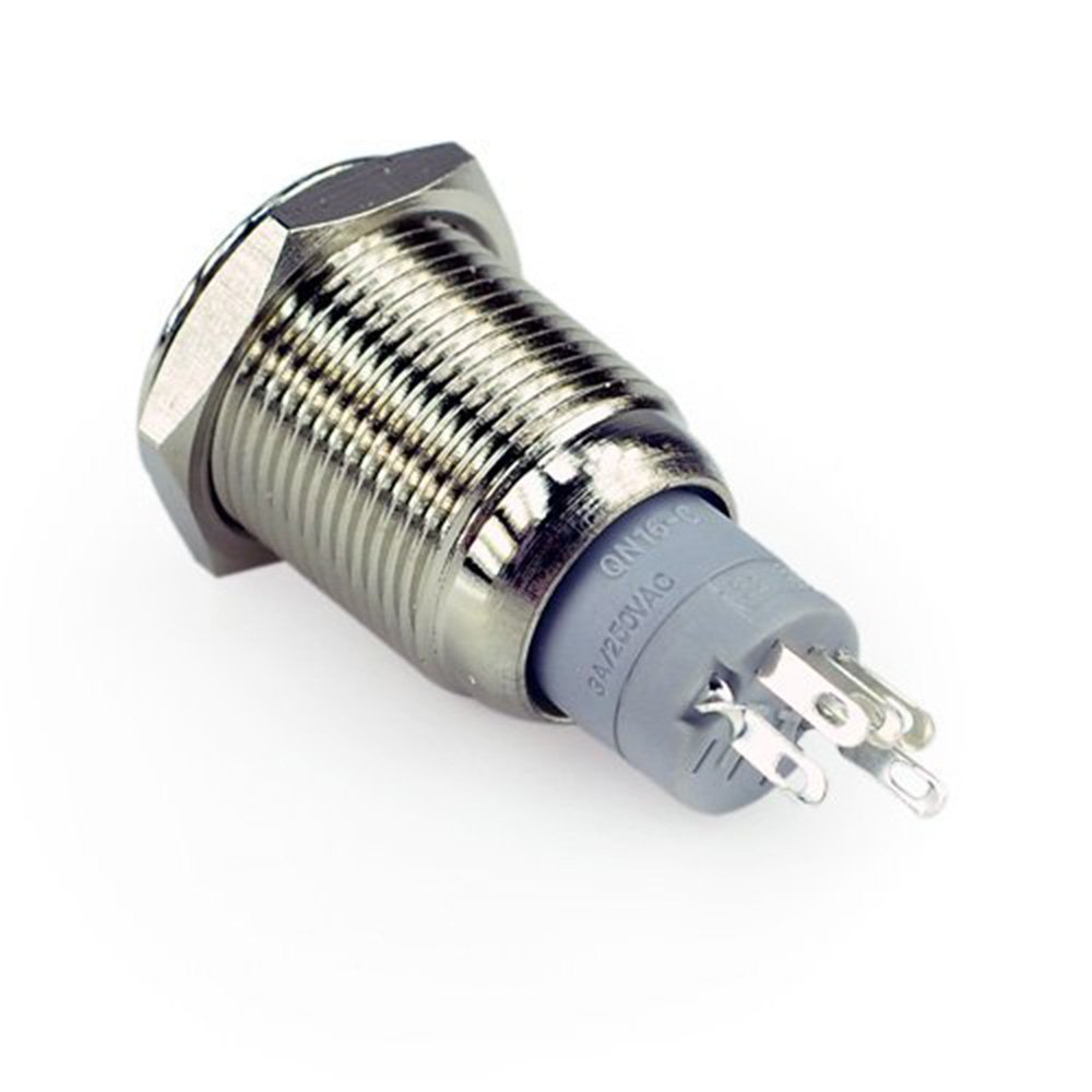 HOTSYSTEM 3x16mm 12V Metall Reset Taster LED Beleuchtet Drucktaster Druckknopff/ür Auto KFZ Blau