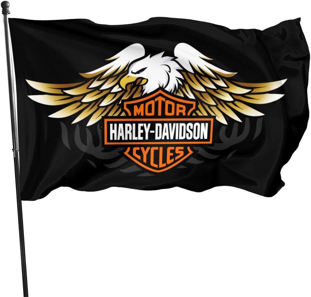 Lovesofun Harley Davidson Home Garden Flag Farmhouse Summer Yard Outdoor Decor Outdoor Flags 3x5 Ft