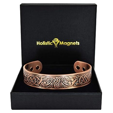 Pulsera de cobre hombre regalos para hombres originales practicos pulsera magnética curativa regalos hombres mayores regalos abuelos papa cumpleaños ...