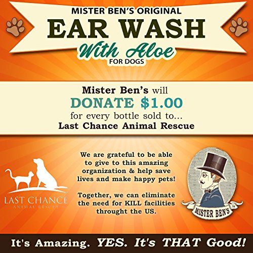 Mister Ben's MOST EFFECTIVE DOG EAR WASH Voted the Best Dog Ear Cleaner - Provides FAST RELIEF from Dog Ear Infections, Irritations, Itching, Odors, Bacteria, Mites, Fungus & Yeast by Mister Ben's (Image #8)