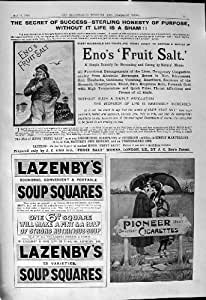 Cuadrados 1901 de la Sopa de Lazenby de los Cigarrillos del Pionero de la Sal de la Fruta de Eno del Anuncio