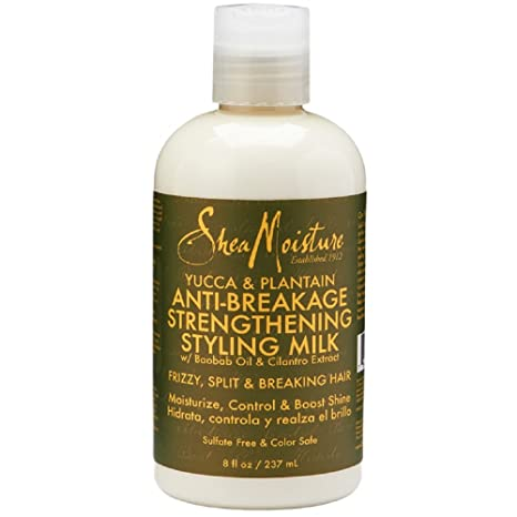 Shea Moisture Y&P Anti Break Milk, Tratamiento Capilar Anticaida - 237 ml