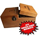 New Upgraded Useless Box Leave Me Alone Machine in Real Wood with SURPRISE VARIED MOVEMENTS!