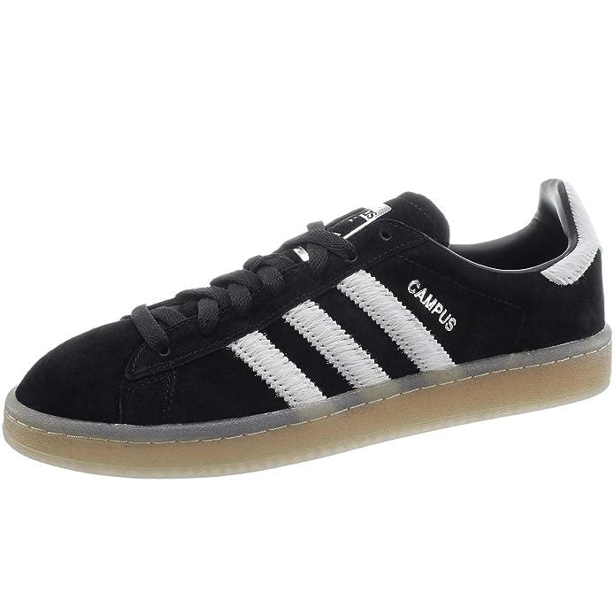 Adidas Campus Schuhe Herren schwarz mit weißen Streifen