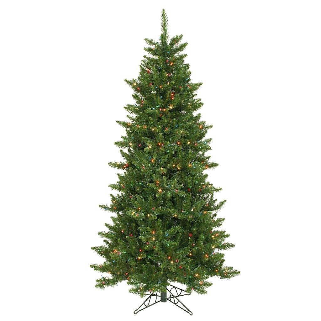 Amazon.com: Vickerman Pre-Lit Camdon Fir Slim Tree with 700 Clear ...