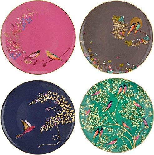 Portmeirion Set of 4 Assorted Chelsea Bird Plates 648517