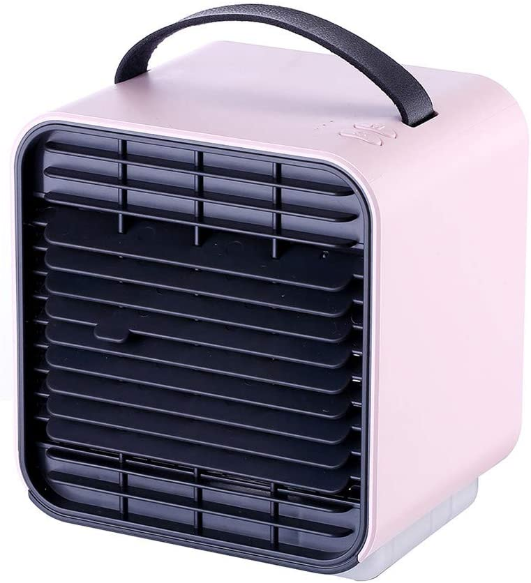 Air Cooling Fan for Room Portable Cube Mini Water Air Conditioner Fans for Bedroom Office Car 2019 Summer Pink