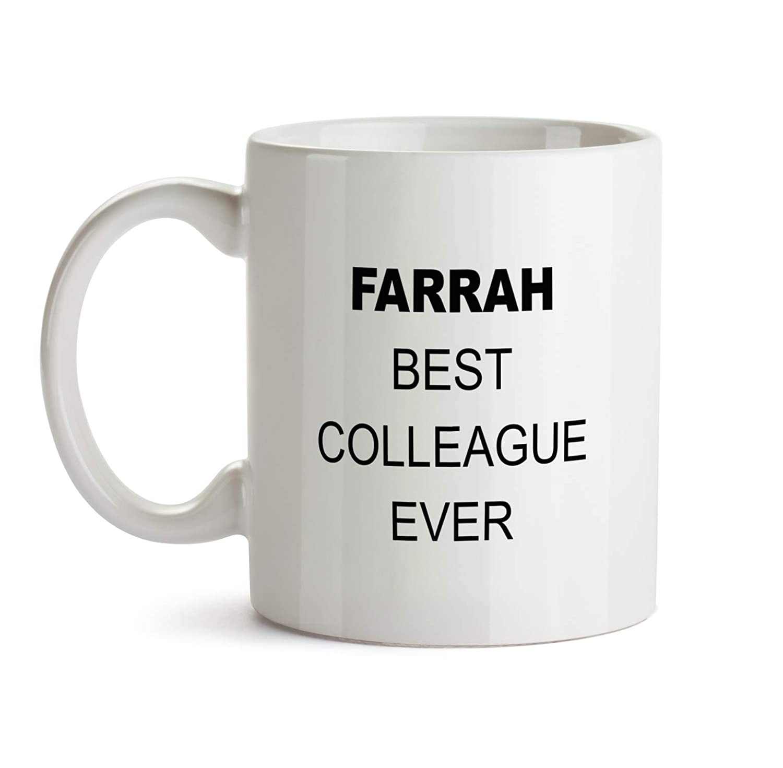 Amazon com: Farrah Best Colleague Ever Gift Mug - BB77 Funny