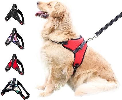 Dog Pet Vest Harness Leash Collar Set No Pull Adjustable for Small//Medium//L//XL