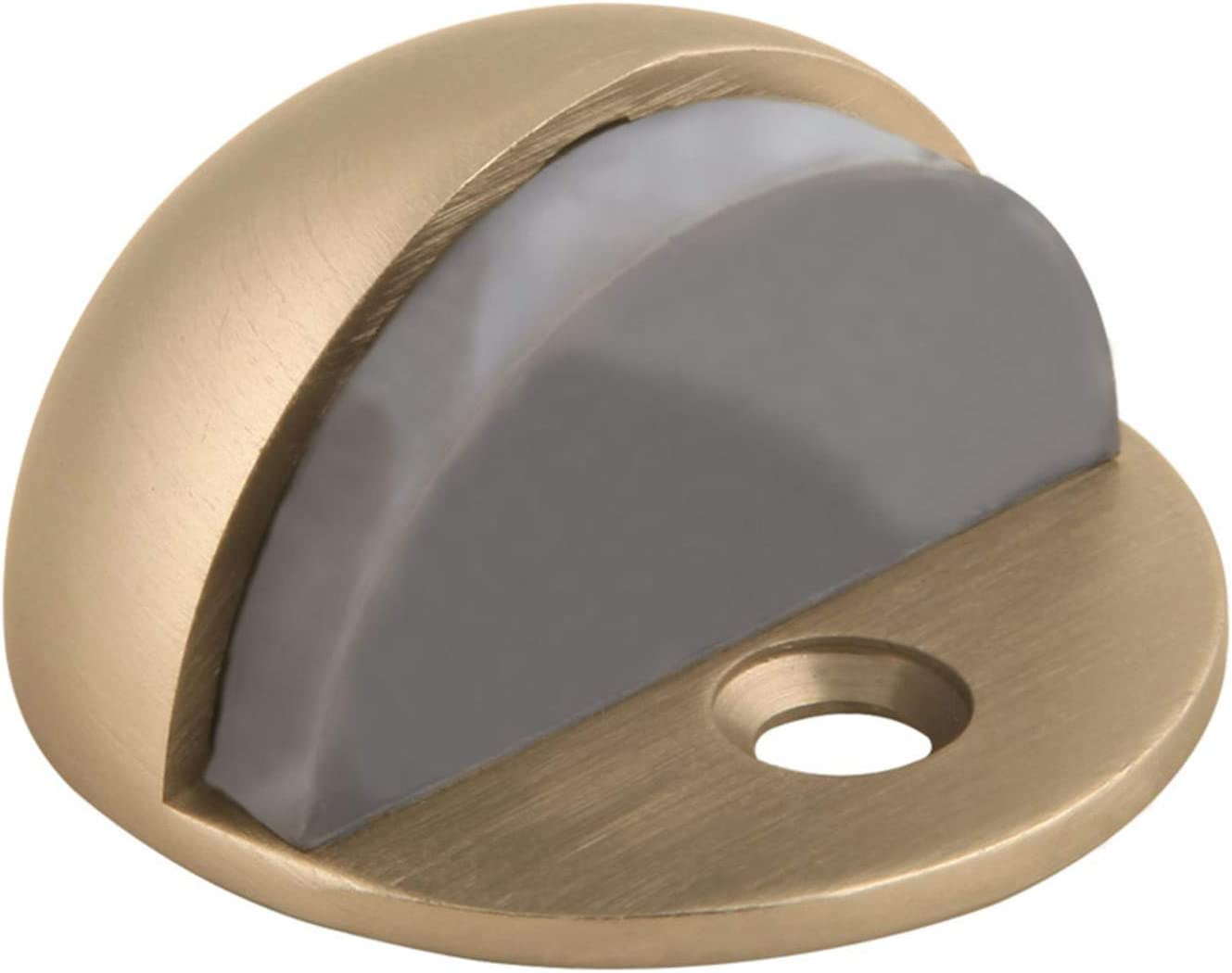 Design House Accessories 204750 Floor Mounted Dome Door Stop, Satin Brass