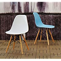 Porthos Home June Eames-Style Dining Chair (Set of 2), White