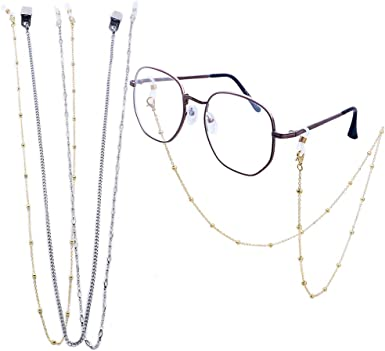 Lanyard for Mask Eyeglass Lanyard Mask Classy Glasses Chains silver Eyeglass Chain Mask Chains Beaded Mask Chain Eyeglass Necklace