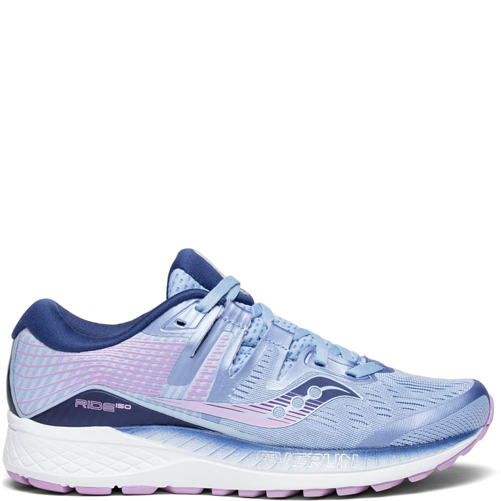 Saucony Women's Ride ISO Shoes, Blue/Navy/Purple, 8 by Saucony