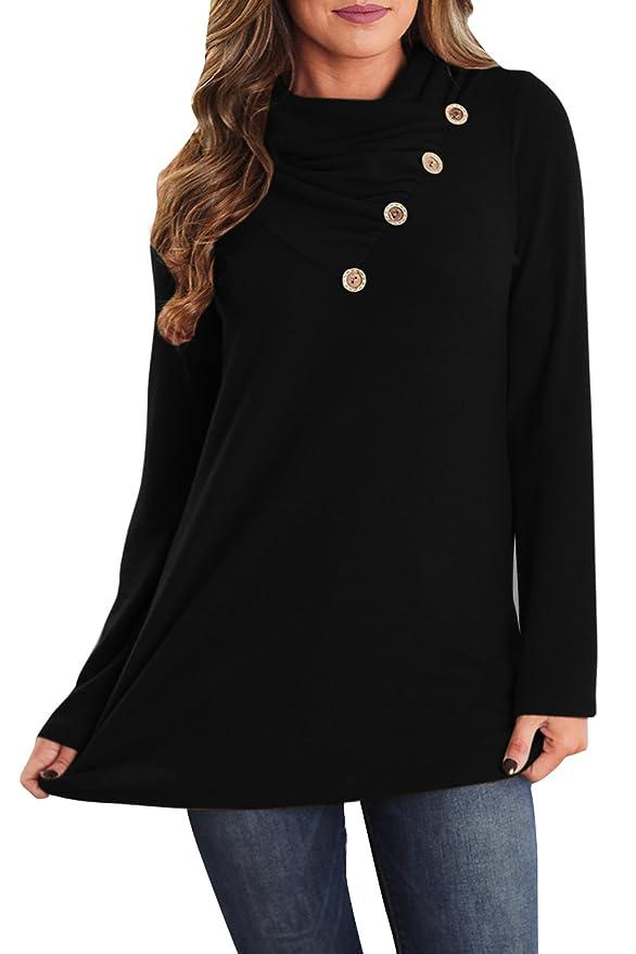 Amazon.com: Valphsio - Camiseta de manga larga con capucha ...