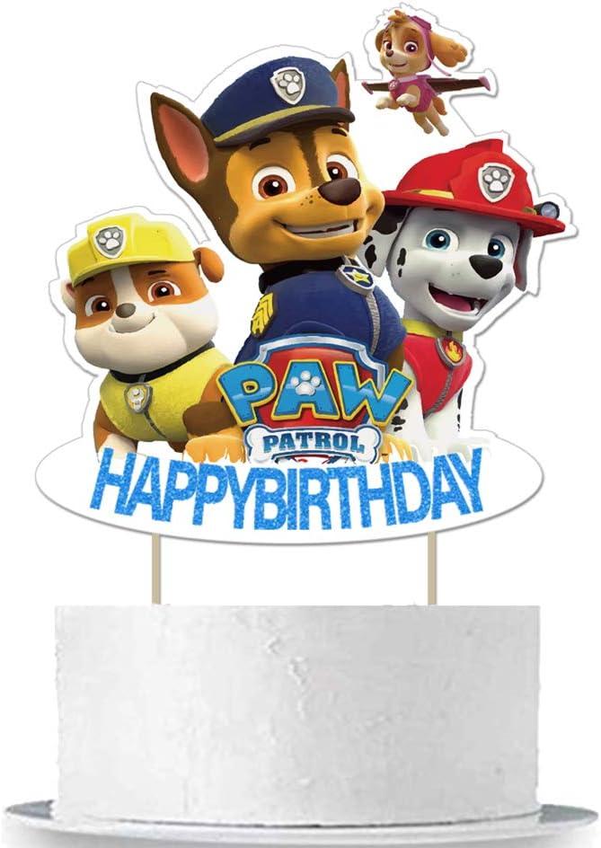 Paw Dogs Patrol Birthday Cake Topper