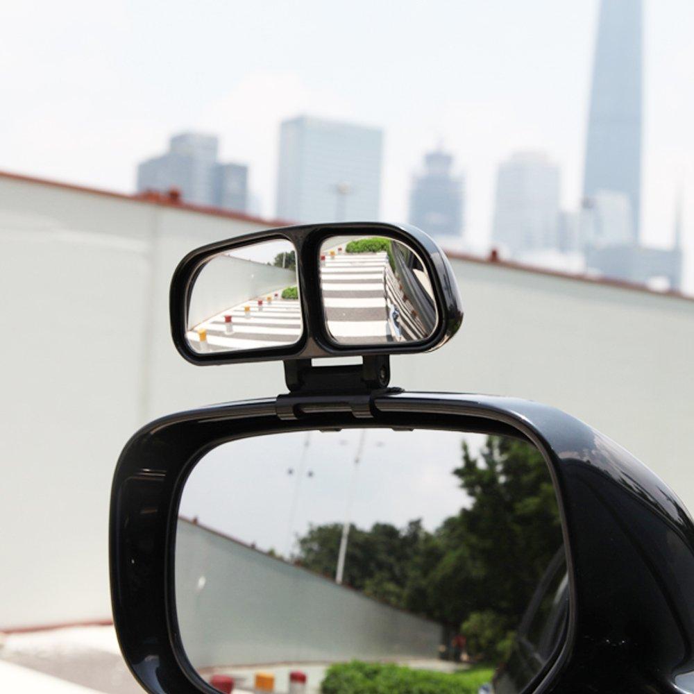 Blind Spot Spiegel, BODECIN Einstellbar Oder Fest Installierte Autospiegel für Blinde Seite/Tür Spiegel, Universelle Rückseite 360° Wide Angle View Spiegel für Vehicle SUV Truck (Links + Rechts) LGQP00186BL-LMD