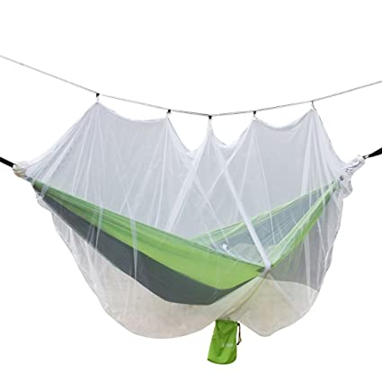 Airand Hamaca de Camping Doble con Red de mosquitera de 360° 260 x 140 cm