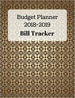 amazon com budget planner 2018 2019 and bill tracker with calendar