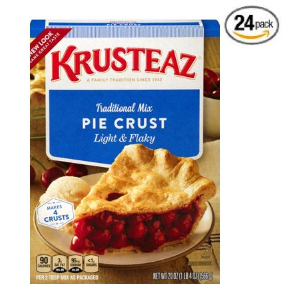 Krusteaz Traditional Light & Flaky Pie Crust Mix, 20 oz. Box (Pack of 24)