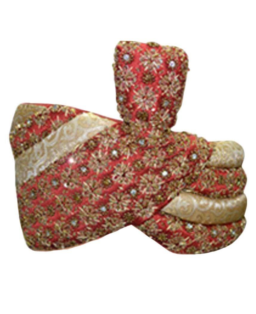 INMONARCH Mens Wedding Turban pagari safa hat for Groom TU2276 22H-inch Ivory