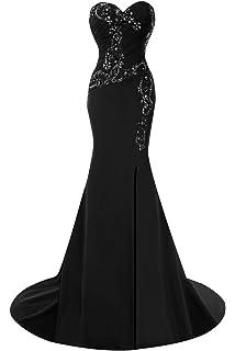 Promworld Womens Sweetheart Beaded Mermaid Evening Dress Prom Dress