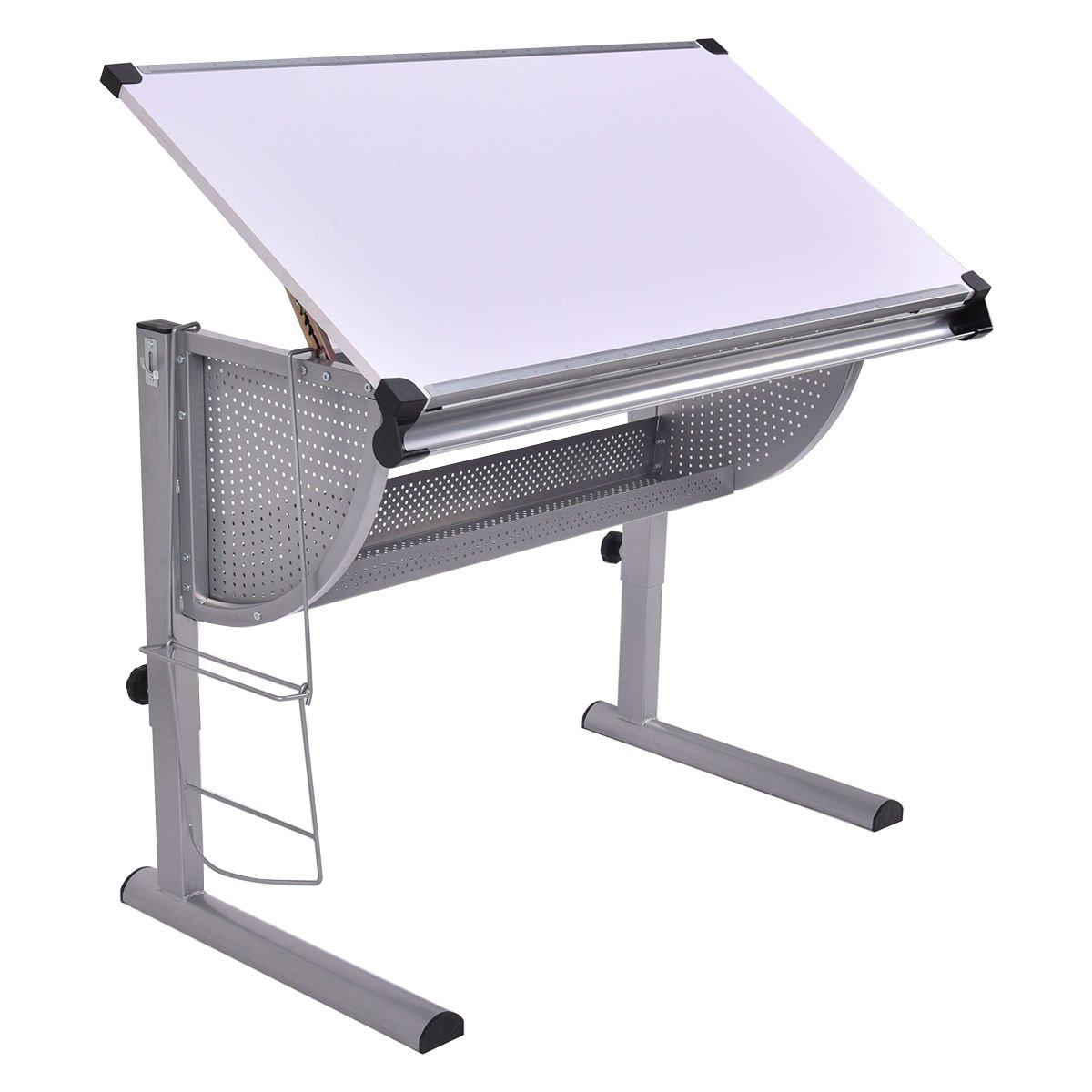 Amazon.com: Tangkula Drafting Table Drawing Desk Adjustable Art U0026 Craft  Hobby Studio Architect Work (White): Arts, Crafts U0026 Sewing