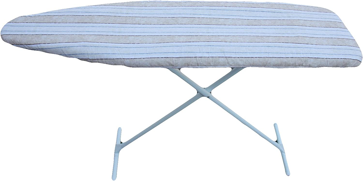 J&J home fashion Classic Heavy Use Ironing Board Cover with 2-Layer Pad-Beige Stripe