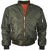 ZJ Clothes Women Ladies Classic Ma1 Padded Bomber Jacket Zip up Biker Coat