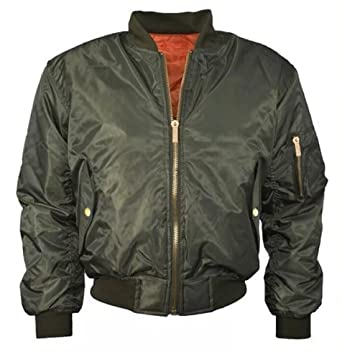 7a253091ca Amazon.com: Women Ladies Classic Ma1 Padded Bomber Jacket Zip up Biker  Coat: Clothing