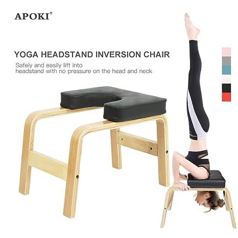 APOKI Yoga Headstand Bench-Práctica De Yoga,Silla De Yoga De ...