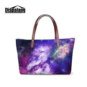 Generic Galaxy Series Large Shoulder HandBags for Ladies Girls Casual Tote Bags Beach Bags