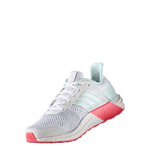 adidas Performance Women's Ultra Boost ST W Running Shoe, White/Ice  Mint/Shock