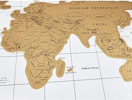 KURAZL Diario de Viaje con Mapa Desde Cero, Regalo para los viajeros Grados de cumpleaños de San Valentín Papel marrón, Mapa del Mundo a Partir de Cero,2: Amazon.es: Deportes y aire libre