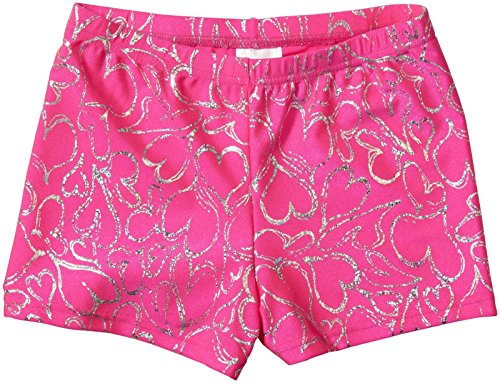 Bodywrappers Print Hot Shorts, Hearts Delight-12/14 by Body Wrappers