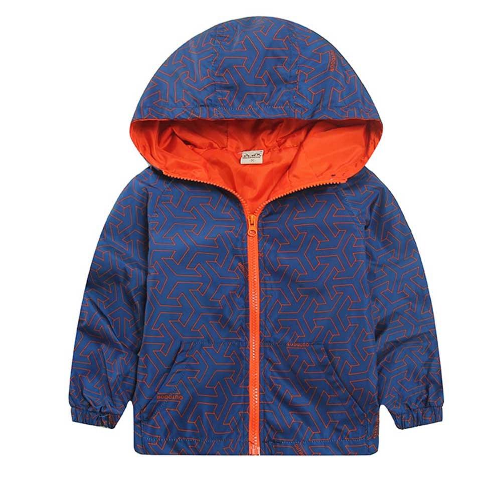 Norbi Kids Baby Boys' Hooded Windbreaker Jacket