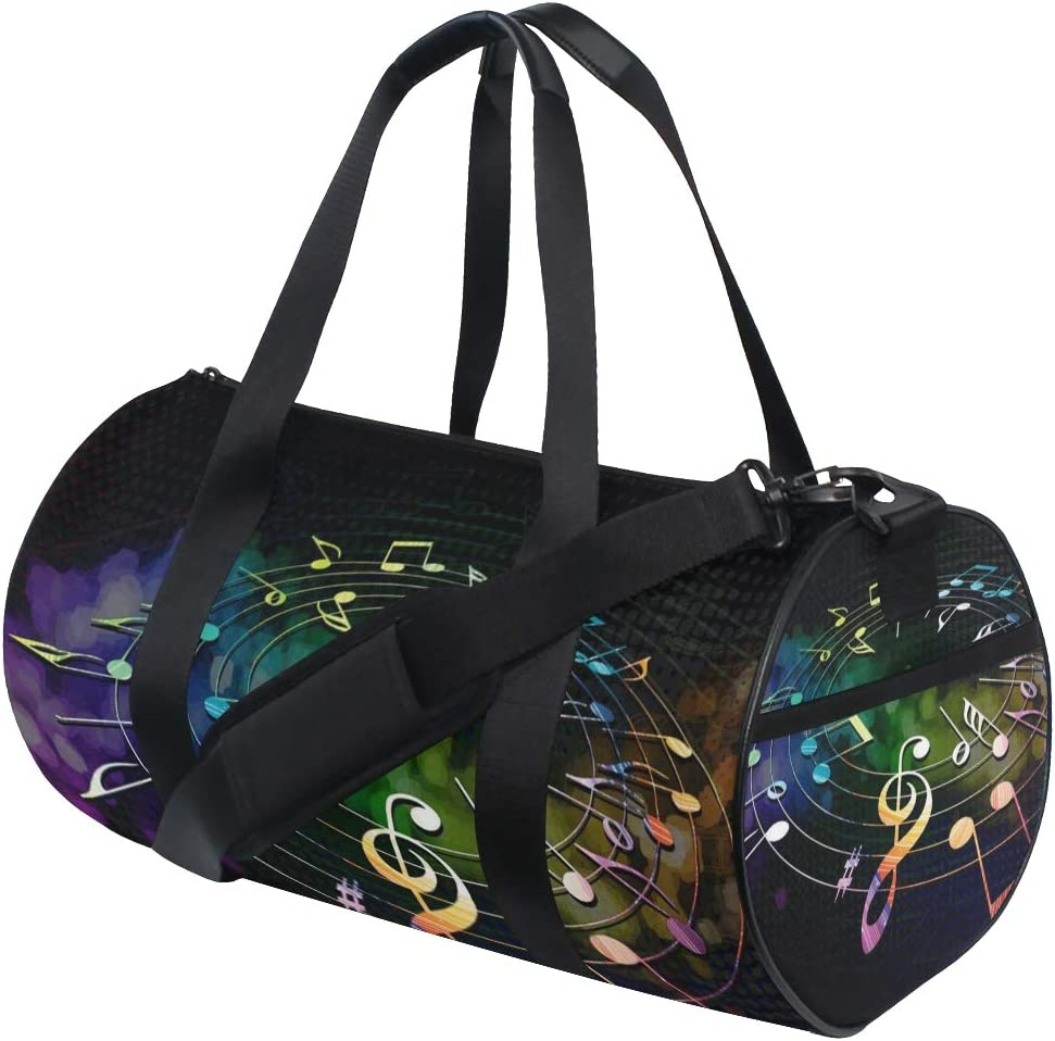 OuLian Gym Bag Colorful Rainbows Women Canvas Duffel Bag Cute Sports Bag for Girls