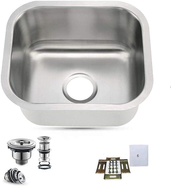 """Stainless Steel Kitchen sink Under-mount Bar Single bowl  15/"""" x 18/"""" x 7/"""" SM1518"""