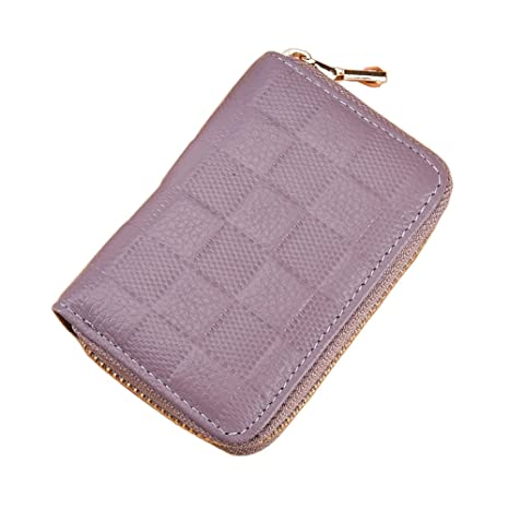 e9843b57a297 LXJ STORE Women Men RFID Blocking Credit Card Holder Cards Case Wallet  Leather Multi Card Protector Safe Small Purse for Travel Work Shopping  (Purple)