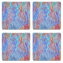 Liili Square Coasters Vintage colored leather texture background 29478672
