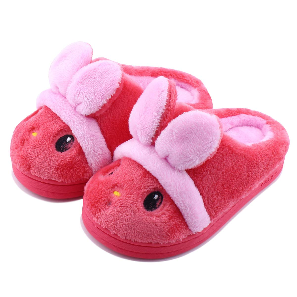 a8bee57b1db Kid Slippers Cute Rabbit Girls Boys Winter Warm Comfort Home Shoes product  image