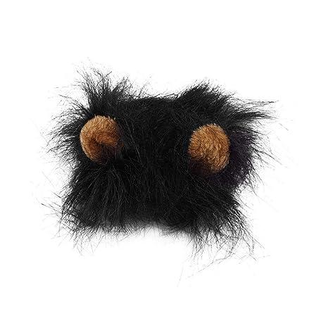 Las Orejas del Gato del Perro casero 1pcs Peluca Emulación león ...