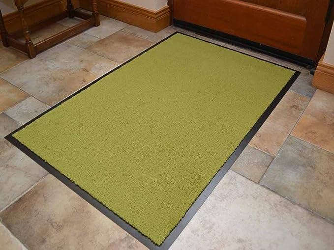 Alfombrilla para puerta antideslizante, color verde lima, se puede ...
