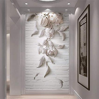 Mural De Pared 3D Flor De Yeso Ladrillo 3D Fondo De Pantalla Para Pasillo Del Vestíbulo
