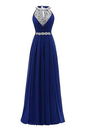 Clover Long Evening Dress Women Royal Blue Formal Prom Dress (Royal Blue, 2)