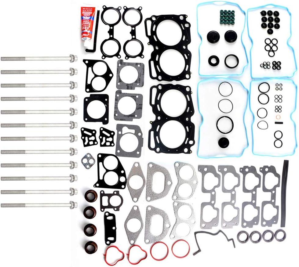 AUTOMUTO Engine Head Gasket Set Bolts Kit for Subaru Impreza Outback Sport