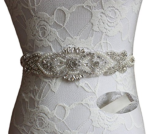 Color Sash Any (Idepy Women's Wedding Belts Pearls Bridal Sash with Rhinestones for Wedding Party Prom Evening Formal Bridesmaid Dress Ivory)