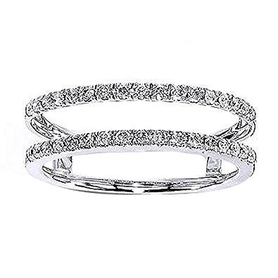 Amazon Com Tusakha 925 Sterling Silver Princess Cut White