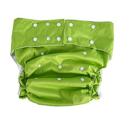Pañales de tela para adultos, 1 piezas lavable bolsillo para adultos ajustable reutilizable ultra absorbente