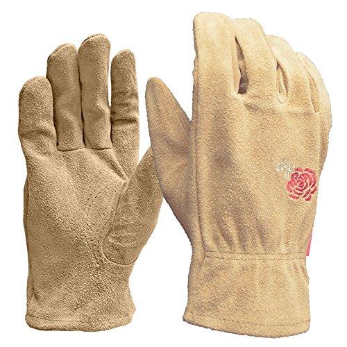 DIGZ Full Suede Leather Garden Gloves, Medium